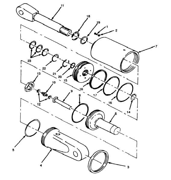hydraulic cylinder repair diagram